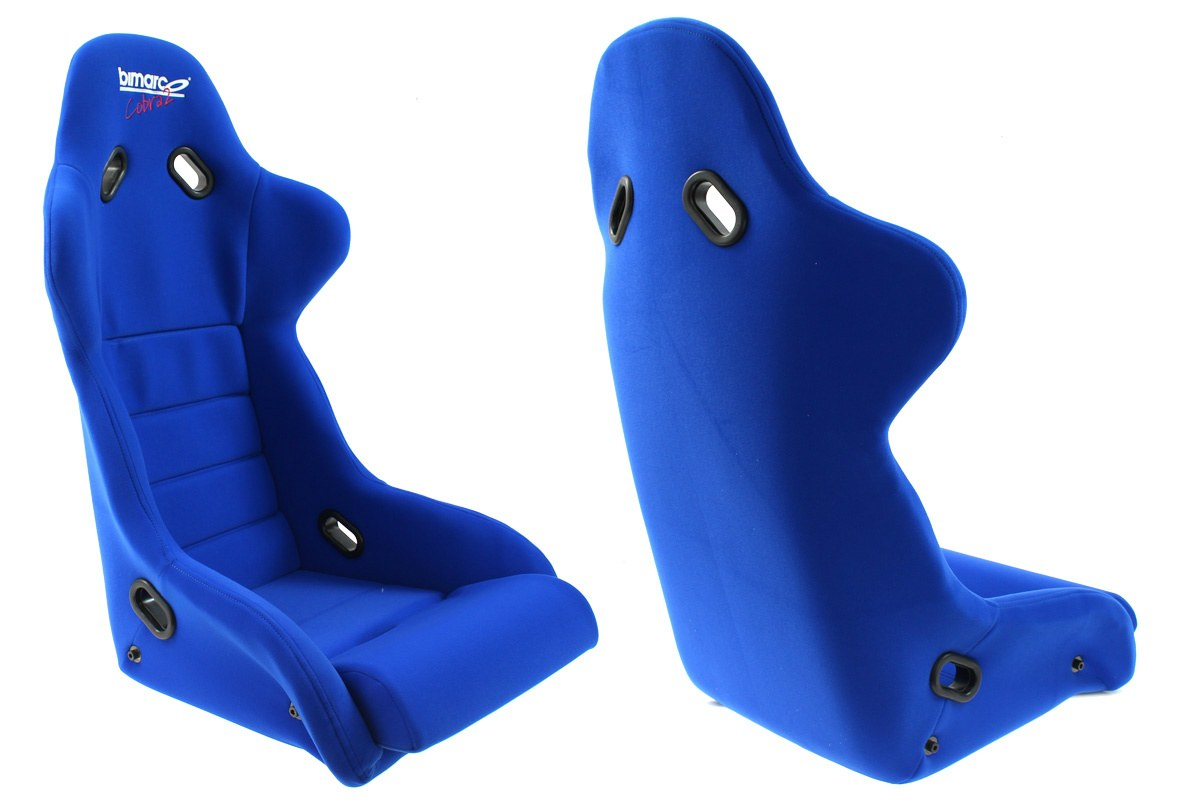 Fotel Sportowy Bimarco Cobra II Welur Blue - GRUBYGARAGE - Sklep Tuningowy